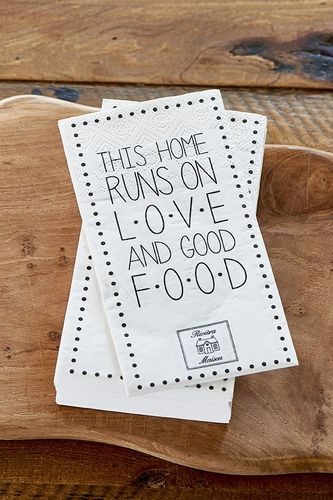 Paper Napkin LOVE AND GOOD FOOD von RM