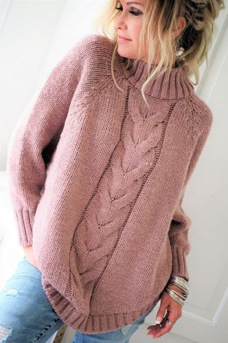 WEEKEND KNIT BLOUSE Rose von BYPIAS