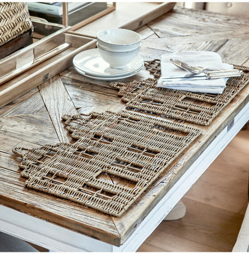 Rustic Rattan HAPPY HOME PLACEMAT